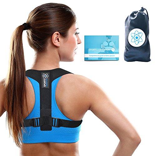 Sports Laboratory PRO+ Haltungskorrektur Geradehalter Schulter Rücken Haltungsbandage mit verstellbare Größe für Damen und Herren