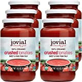 Jovial Crushed Tomatoes | Non-GMO Project Verified | USDA Certified Organic Tomatoes | No Additives | BPA-Free | No Added Sugar | No Salt Added | Recyclable Glass | Made in Italy | 18.3 oz (6 pack)