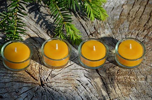 Figura Santa 10 Teelichte aus Bienenwachs & 4 Gläschen. Voyage der einfachste Adventskranz der Welt. Reisetauglich, ökologisch & nachhaltig!