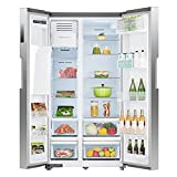 SMETA 36 Inch Side-by-Side Refrigerator 26.3 Cu.Ft Freestanding with Auto Ice Maker and Water Dispenser Large Capacity Refrigerator for Home, Stainless Steel