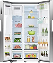 SMETA 36 Inch Side-by-Side Refrigerator 26.3 Cu.Ft Freestanding with Auto Ice Maker and Water Dispenser Large Capacity Refrigerator for Home, Stainless Steel…