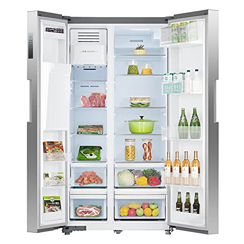 SMETA 36 Inch Side-by-Side Refrigerator 26.3 Cu.Ft Freestanding with Auto Ice <a href=