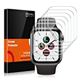 MP-MALL 6 Pack Screen Protector Compatible with Apple Watch 42mm Series 3 2 1 44mm Series 4 5 Bubble-Free iWatch Flexible TPU Film