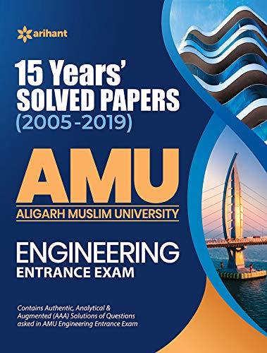 15 Years' Solved Papers for AMU Engineering Entrance Exam 2020