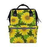 tizorax Vintage Sonnenblumen gelb Windel Rucksack Große Kapazität Baby-Bag Multifunktions-Wickeltaschen Mom Rucksack Reisen für Baby Care