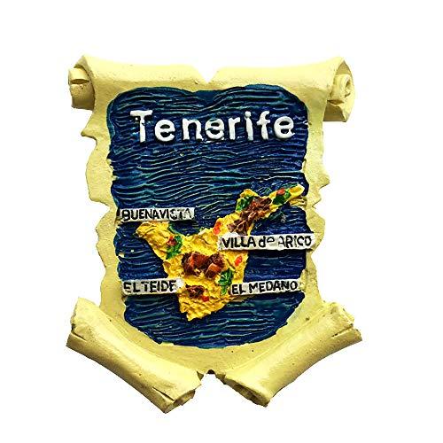 Time Traveler Go Imán de nevera de Tenerife España de resina 3D imán para decoración del hogar o la cocina