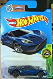 Hot Wheels 2016 HW Exotics '17 Ford GT 73/250, Blue