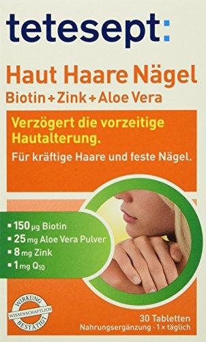 Tetesept Haut Haare Nägel, 30 Stück, 5er Pack (5 x 15,3 g)