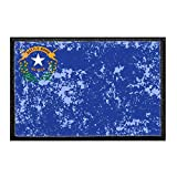Nevada State Flag - Color - Distressed Morale Patch | Hook and Loop Attach for Hats, Jeans, Vest, Coat | 2x3 in | by Pull Patch