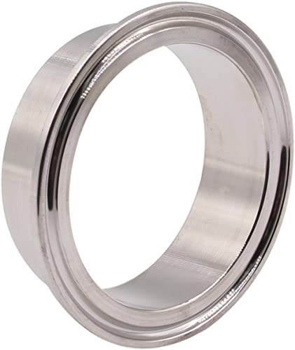 "DERNORD Stainless Steel 304 Sanitary Fitting, Long Weld Clamp Ferrule FitsTri Clamp (64MM/2-1/2"" Tube OD)"