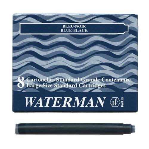 WATERMAN 【ウォーターマン】 カートリッジインク・スタンダード(8本入り) ブルーブラック (S22...