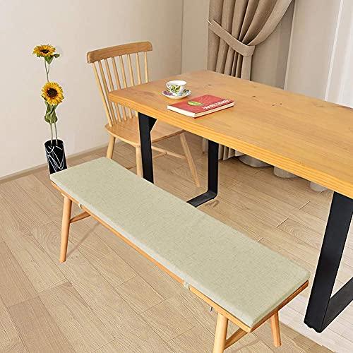JYCTD Extra lång kudde för trä svängbordsstol, bekväm svamp vadderad sittbänk, utomhus avslappnande kudde bänk dyna avtagbart sätesskydd för middag resor