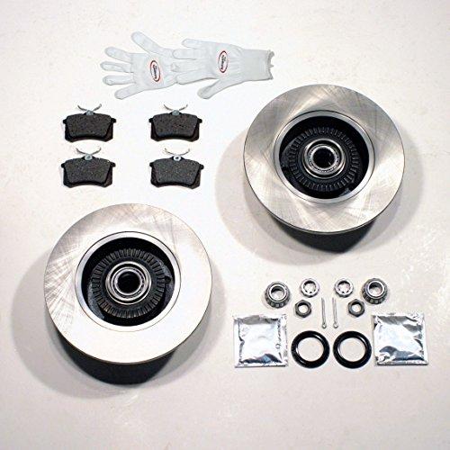 Bremsscheiben/Bremsen + montierte ABS Ringe + 2 Radlager hinten