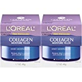 Collagen Face Moisturizer by L'Oreal Paris Skin Care I Day and Night Cream I Anti-Aging Face Cream to Smooth Wrinkles I Non-Greasy I 1.7 Ounce (Pack of 2)