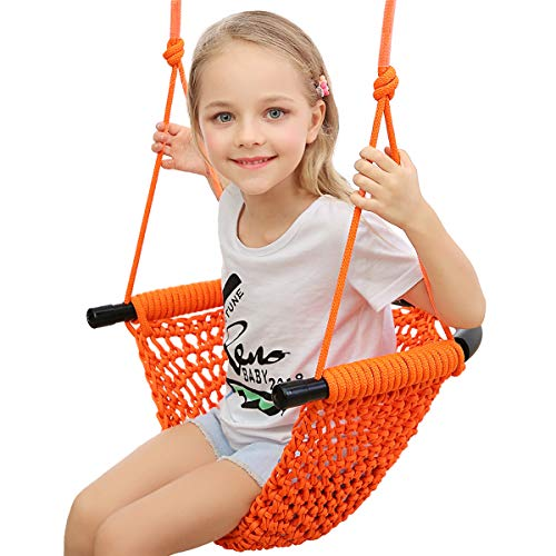 Hi-Na Kids Swing Seats Indoor Hand-Made Kids Swing with Adjustable Rope Outdoor Swing Seat Tree Swing Seat for Kids for Backyard Swing Seat for Kids for Playground Child Swing for Outside