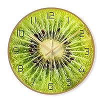 Yangmanini ガラス北欧キウイグラフィックぶら下げ自宅のリビングルームのテーブルクロック29.5センチメートル* 29.5センチメートルの*の0.4センチメートルで作られた近代的なミニマリストの創造的なフルーツの時計壁時計