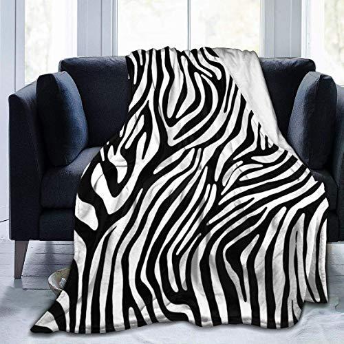 huatongxin Coperta da tiro in flanella,Zebra Pattern Divano letto personalizzato morbido Caldo sfocato leggero per Bambini adulti 60