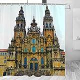 Spain Santiago de Compostela Shower Curtain Travel Bathroom Decor Set con Hooks Poliéster 72x72in (YL-05431)