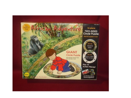 African Adventure Giant Circle Puzzle (two sided) by