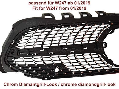 Diamantgrill Folien Sticker für Mercedes B-Klasse W247 AMG Grillaufkleber (Chrom)