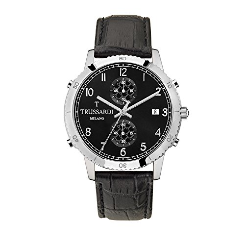 TRUSSARDI Orologio Cronografo Quarzo Uomo con Cinturino in Pelle R2471617006