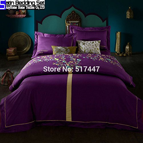 Where to buy Purple duvet quilt bedsheet cover tree pattern