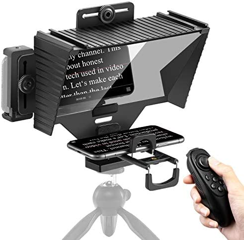 Sutefoto Teleprompter with Remote Control Teleprompter for iPad Compatible for Camera iPhone product image