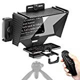 Teleprompter with Remote Control, Sutefoto Teleprompter for iPad, Compatible for Camera, iPhone Recording, Support Phone and iPad As Teleprompter Device