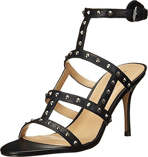 Ivanka Trump Women's Gemina Black Leather Sandal 9.5 M