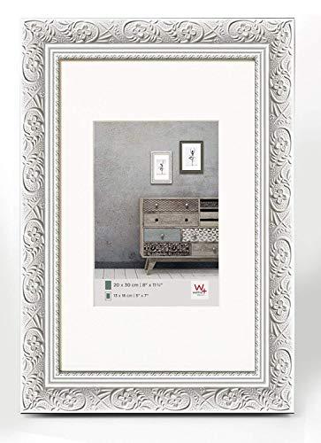 walther design CR318W Holzrahmen Barock, 13 x 18 cm weiß