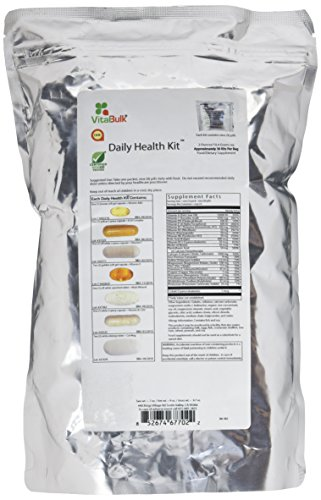 Vital Bulk Daily Health Kit Packet Multivitamin & Mineral Supplements 30 Count Bag