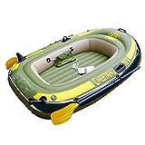YX-ZD Inflable Tándem De Aguas Bravas Kayak, Resistente A La Perforación De PVC Inflable Bote Bote Bote Deporte Aéreo Tender Pesca Balsa De Carga hasta 485Lbs De La Deriva De Buceo Deportes Acuáticos