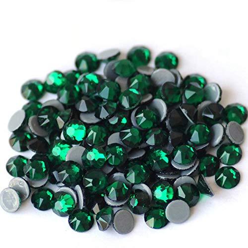 PENVEAT 2088HF Todos los tamaños Cristales de fijación en Caliente Diamantes de imitación de Cristal Hierro en Apliques de Strass para Ropa, Esmeralda, SS10 1440 Piezas