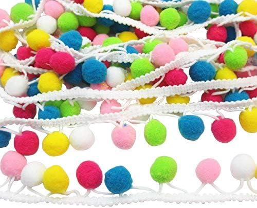 Japan Maker New Dandan DIY 5yards Colorful 15mm Fringe Max 87% OFF Ball Pom Ribbon Trim
