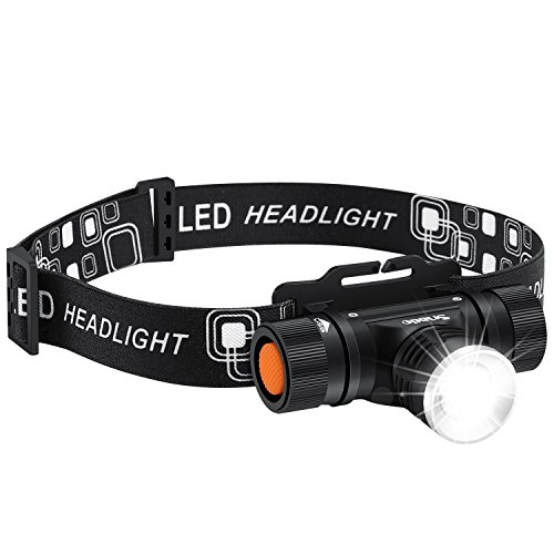 Lampada da Testa LED Ricaricabile, Snado Lampada Frontale USB Ricaricabile 2000 Lumen IPX5 Luce Torcia per Campeggio/ Corsa/ Pesca/ Caccia/ Ciclismo/ Arrampicata