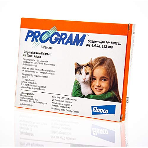 PROGRAM Suspens.f.Katzen b.4,5 kg/133 mg Ampullen 6 St