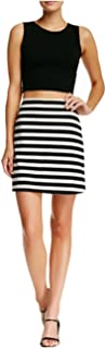 Women's Punk A-Line Mini Skirt-Medium-Black White