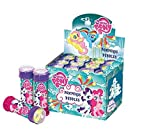 SUPERBOOM - Caja Pomperos de Burbujas de Jabón de My Little Pony - 12 Unidades de 60 ml