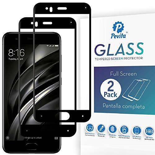Pevita Protector De Pantalla Xiaomi Mi 6. [2 Packs] Full Screen. Dureza 9H, Sin...