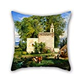 artistdecor Oil Painting Luis Coto - Landscape of San Cristã³Bal Romita Pillow Cases,Best for Teens Boys,Saloon,Teens Girls,Pub,Wedding,Home 20 X 20 Inches / 50 by 50 cm(Both Sides)