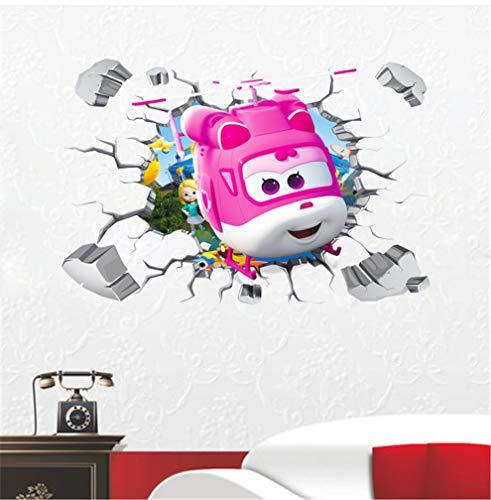 3D Cartoon muur gebroken duizelig Super vleugels muurstickers kinderen muurschilderingen 60x90cm