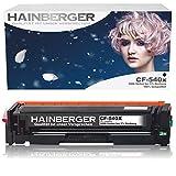 Hainberger® - Tóner XL negro compatible con HP CF540X CF541XCF542X CF543X para Color Laserjet Pro M-280nw M-281fdn M-281fdw M-254nw M-254dw cf540x cf541x cf542x cf543x - 203X