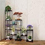 Support de fleur Étage intérieur et extérieur Balcon Salon Plante Présentoir Étage Simple Support à casseroles multicouche -2.2 (Color : A, Size : 12 layers)