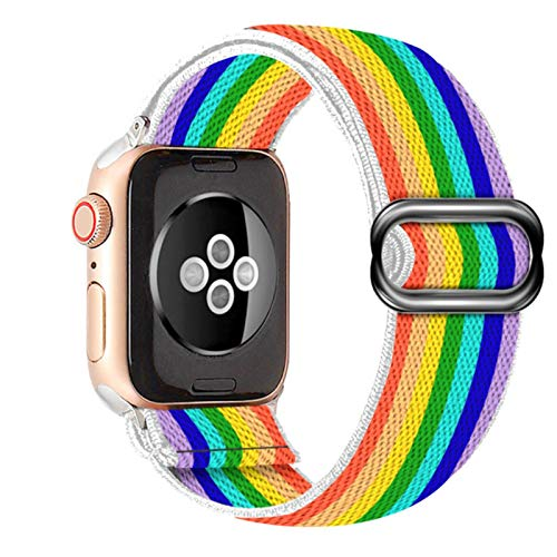 Banda de hebilla elástica de nailon suave y cómoda para Apple Watch 38 mm 42 mm Serie 6 SE 54321 Para iWatch Correa Bohemia trenza44 mm