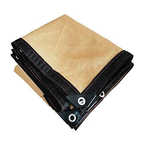 Sonnenschutztuch, beige 8-Pin-Vorhaut Loch Perforation, verwendet for den Außen Pergola Balkon Dach Auto nach Hause Wärmedämmung und Beschattung (Size : 2x1Meter)
