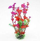 N\C Vivid Simulation Plant Biological Aquarium Landscape-Shell Aquatic Plants-Artificial Aquatic Plants-Aquarium Home Decoration-Plastic Fish Tank Decoration-Artificial Flowers