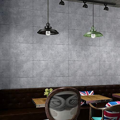 baporee Vintage Cemento Gris Papel Pintado para la Sala Bar Restaurante Cafetería Tienda de Ropa Decoración 3D Celosía PVC Pared de Vinilo Ladrillo 5.3m²