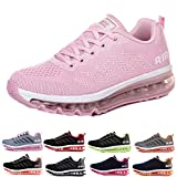 Homme Femme Air Baskets Chaussures Gym Fitness Sport Sneakers Style Running Multicolore Respirante Pink 38