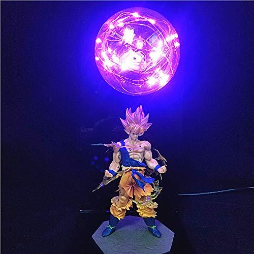 Dragon Ball Z Action Figures Lampada Lampada da tavolo a LED per camera da letto a LED modello anime fai da te per bambini Giocattoli per bambini 3D C