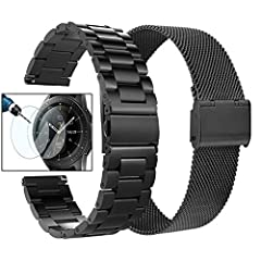 【Perfect Compatible Galaxy Watch 46mm Bands】These 22mm bands FIT FOR Samsung Galaxy Watch 46mm/Galaxy Watch 3 45mm/Gear S3 Frontier/Gear S3 Classic, bands also fit for other smartwatch with 22mm lug width such as Huawei Watch 2 Classic/LG G Watch W10...